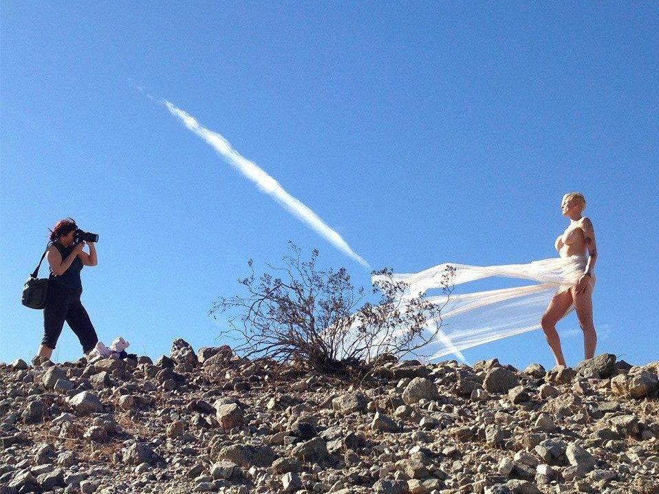 Grace Photographer Isis Charise & Starling at a Grace Photo Shoot in Palm Desert, California